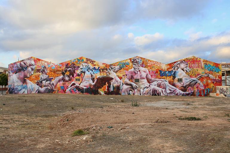 Ciutat Fallera wall in Valencia