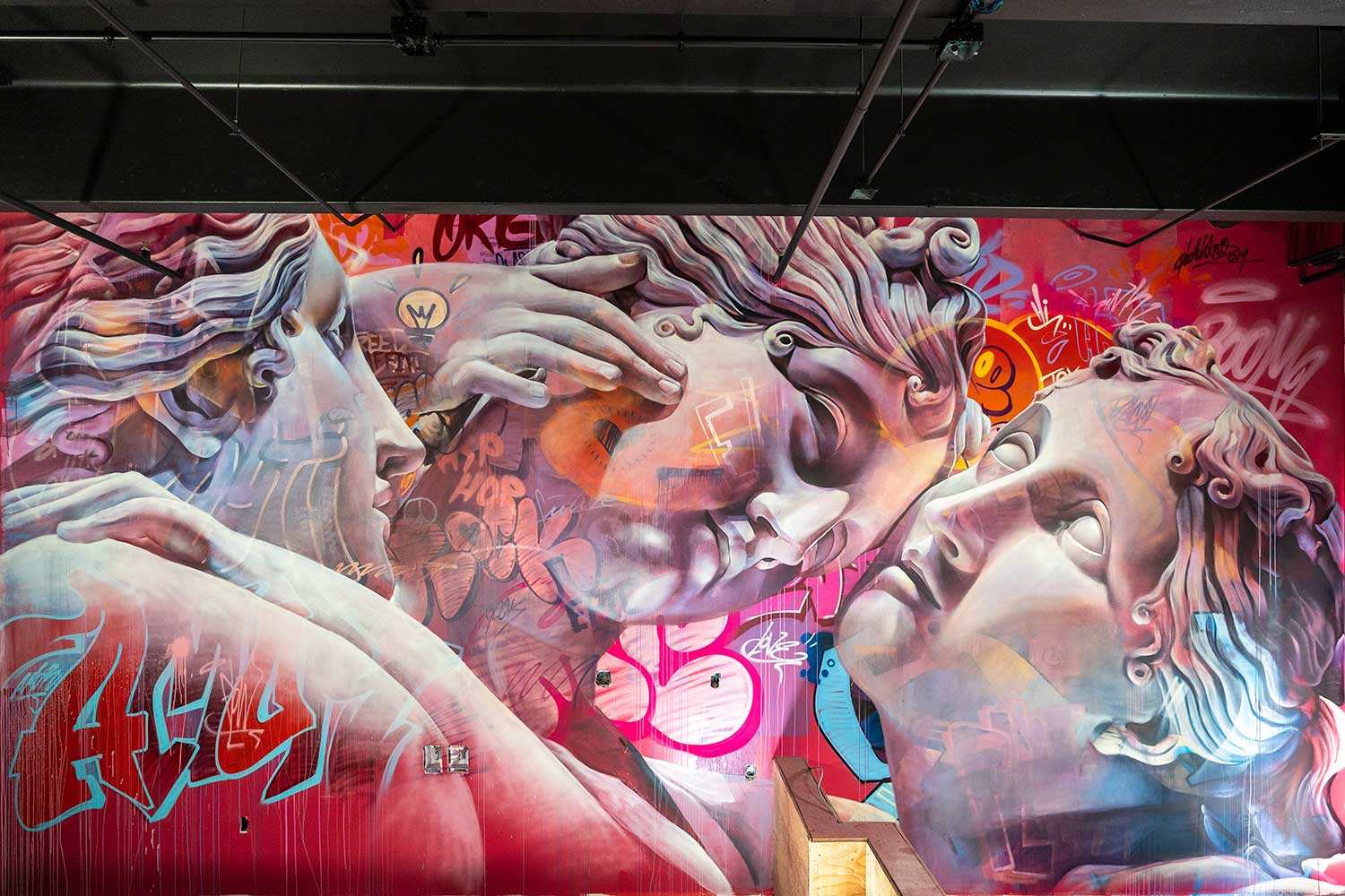 Mural for the Queens Eleven coffee shop in Denver final