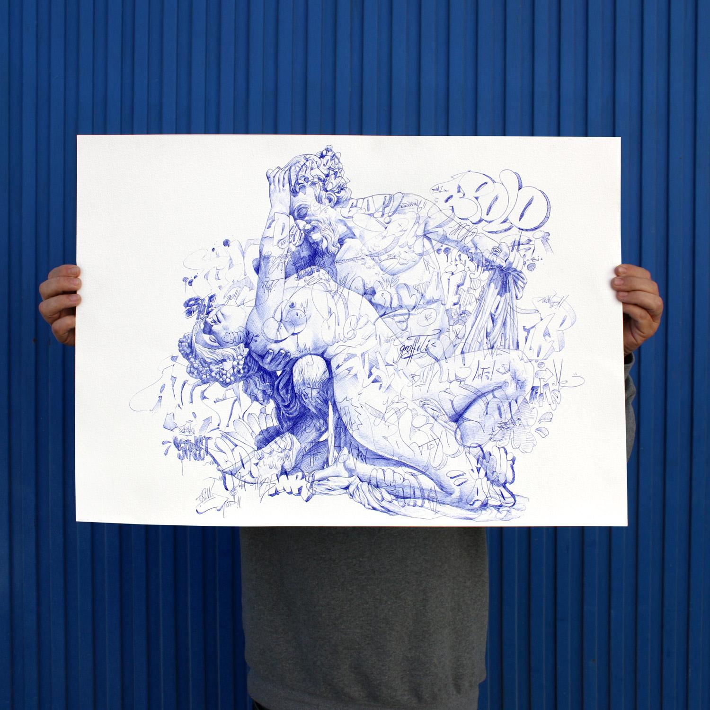 Satyr and Bacchante sketch Pichiavo